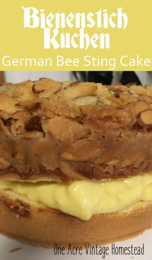 german bee sting cake bienenstich kuchen german bee sting cake two homesteads 4478